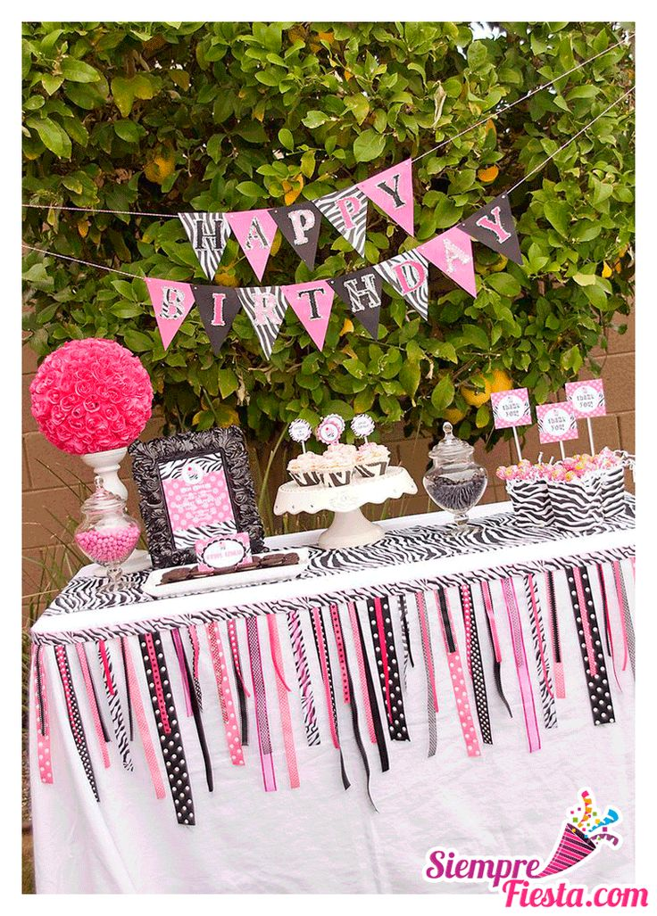 17 best images about fiesta de zebra print on pinterest - Ideas para fiesta de cumpleanos adultos ...
