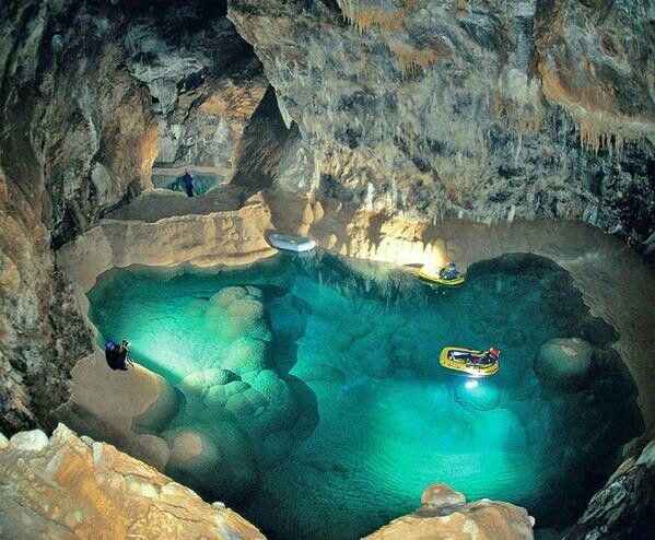 Kalavryta, cave lake,  Greece Hellas