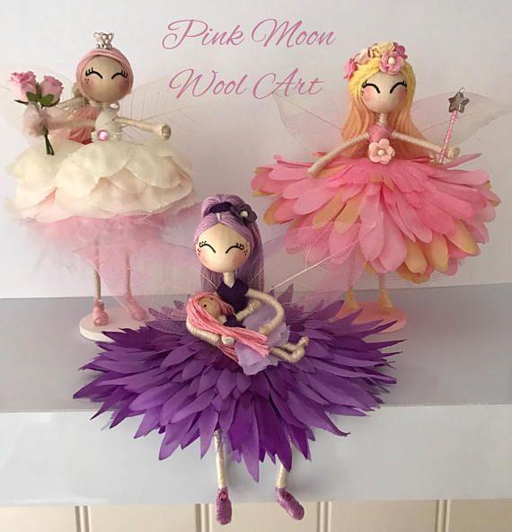 Princess flower fairy doll Angel ornament Flower fairy gift