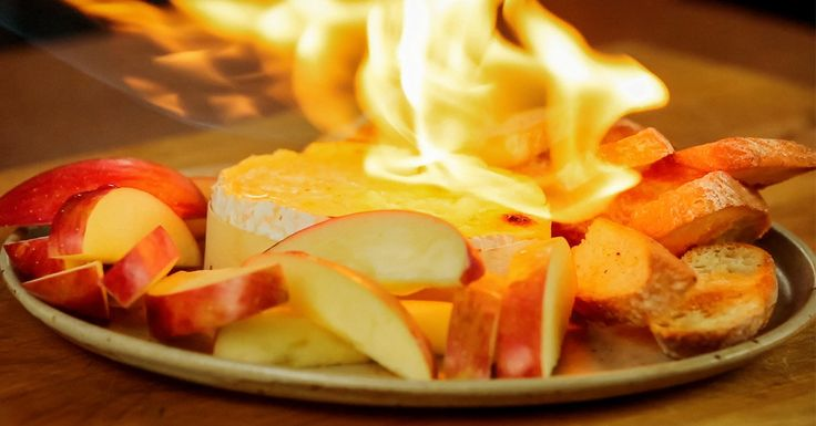 Cheese, booze and fire. Need we say more? Another reason I neeeeeed a propane torch!