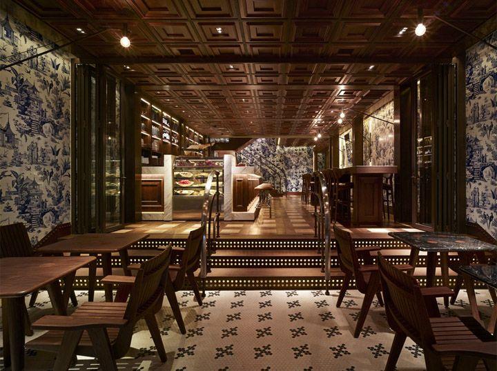 208 Duecento Otto restaurant Autoban Hong Kong 208 Duecento Otto restaurant by Autoban, Hong KongHong Kong, 208 Duecento, Hongkong, Stores Design, Interiors Design, Eight In Amber, Restaurants Design, Duecento Otto, Design Blog