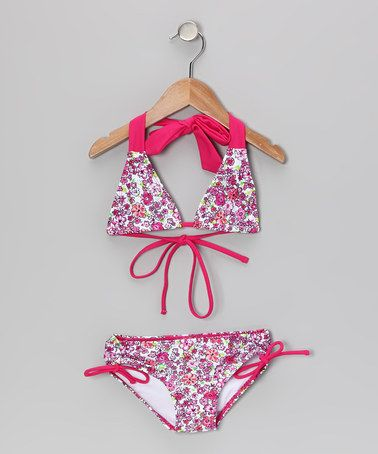 Take a look at this Purple Savannah Bikini - Toddler & Girls by Kanu Surf on #zulily today!