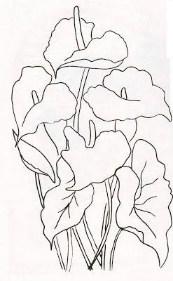 desenhos de flores para pintar , com guia de cores.riscos para pintar flores,pintura em tecido.