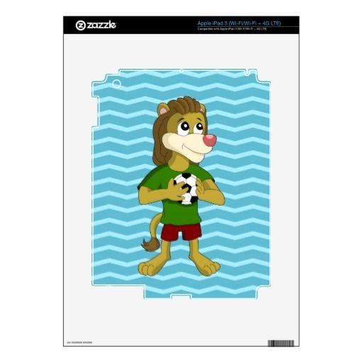 Cute lion cartoon iPad skin