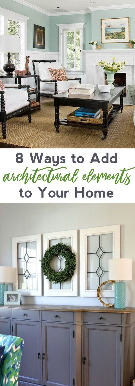 farmhouse decor | ways to add architectural elements | fixer upper | farmhouse style | vintage | molding | window panes | fixer upper rooms