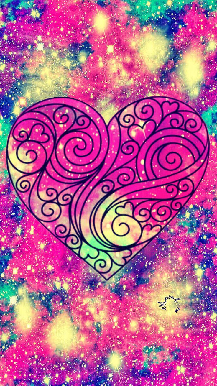 Cute Heart Galaxy iPhone/Android Wallpaper heart love