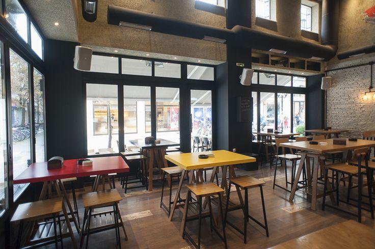 Cadillac records Bar, Karditsa, Greece #interior #design #karditsa #greece #bar #cafe #coffeebar #coffeshop #bar #yellow #red  design by @panospapadoulis  photo by @stelios