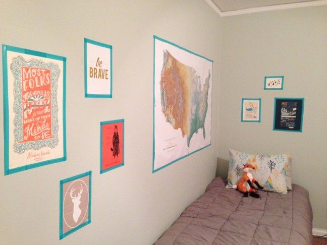 DIY Washi Tape Gallery Wall for your kiddo's room - Oh Lovely Day