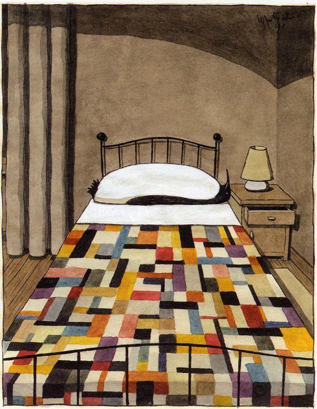 Penguin Pillow, by Italian illustrator Franco Matticchio (b. 1957).