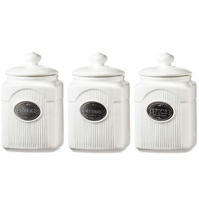 Store Your Kitchen Necessities In One Of The Supremely Stylish Canisters  From The Global Amici Yorkshire Ceramic Canister Collection.