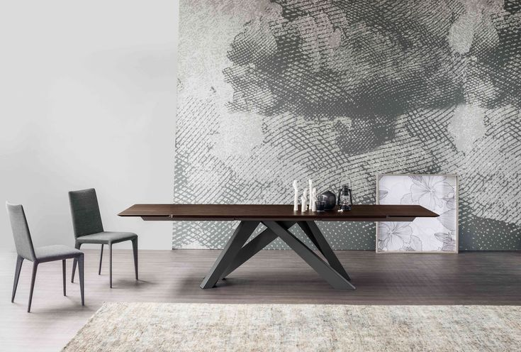 Big #Table #design Alain Gilles & Filly up #chair design Bartoli Design by #Bonaldo