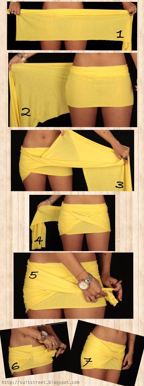 Suit Street: DIY Wrap Skirt... i mean definitely a bit longer though. this is a bit scandalous
