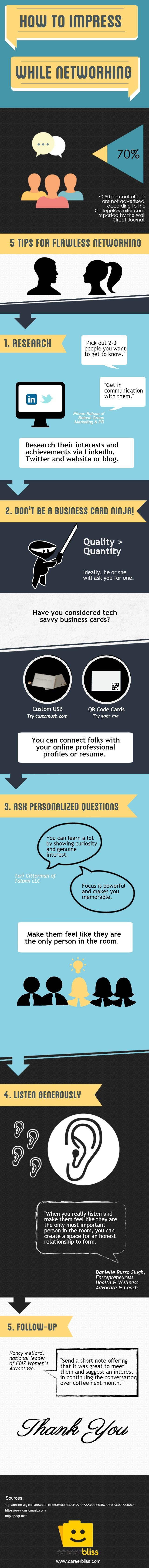 5 Simple Tips for Flawless Networking Infographic
