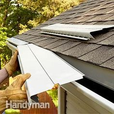 cleaning gutter guards