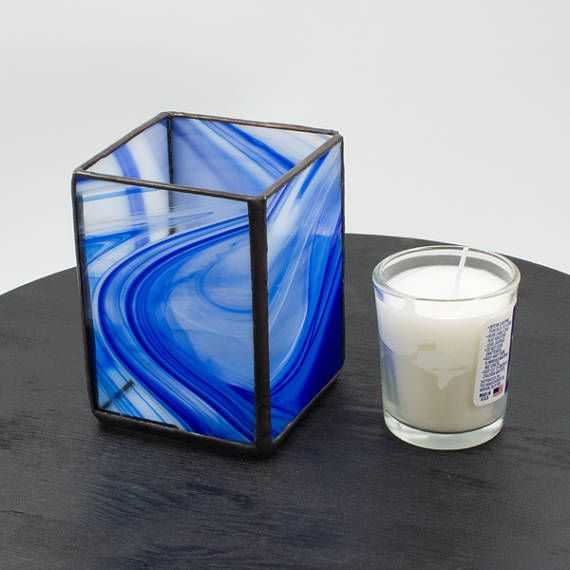Hey, I found this really awesome Etsy listing at https://www.etsy.com/listing/531991803/yahrzeit-jewish-candle-holder-blue-and