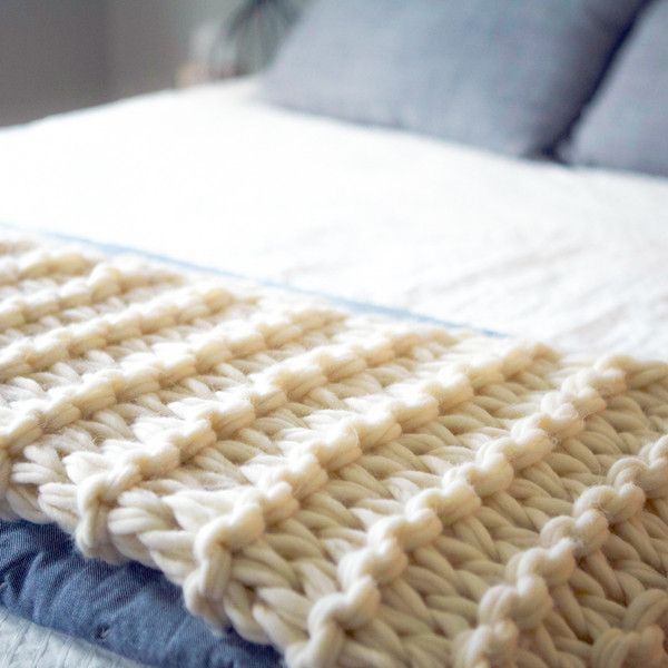 Arm Knit Garter Stitch Blanket Kit