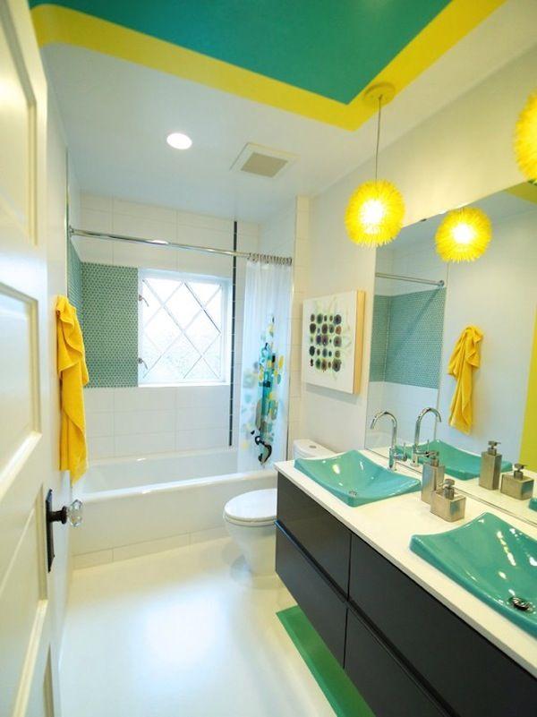 Yellow And Turquoise Bathroom Decor Jonathan Steele