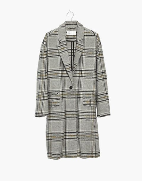 Plaid Bryant Coat In Glen Plaid Pearl Ivory Image 4 Style