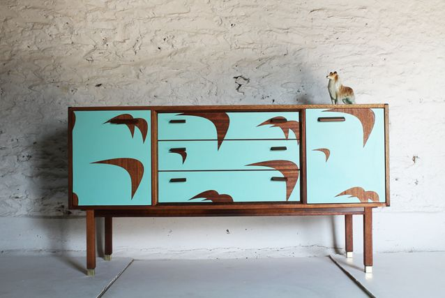 Marina Bird Side Board by Lucy Turner