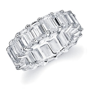 Emerald Cut  White Gold Eternity Ring #Diamonds: Diamonds Eternity Rings, Emerald Cut Diamonds, Diamond Eternity Rings, Eternity Bands, Diamonds Rings, Wedding Bands, White Gold, Emeralds Cut Diamonds, Cut Eternity