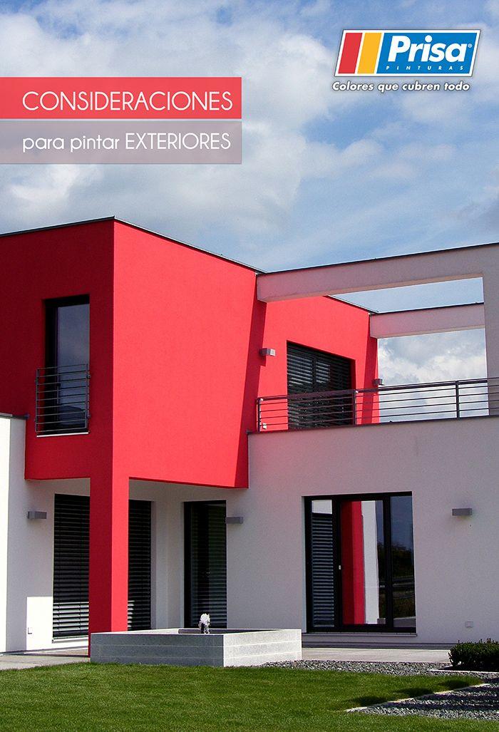 Lo que debes de tomar en cuenta a la hora de pintar tu fachada: http://www.prisa.com.mx/pinterest/html/10_pintarExt.html