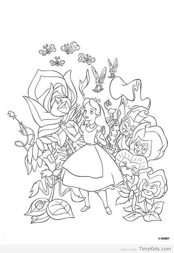 http://timykids.com/alice-in-wonderland-color-pages.html | Colorings ...