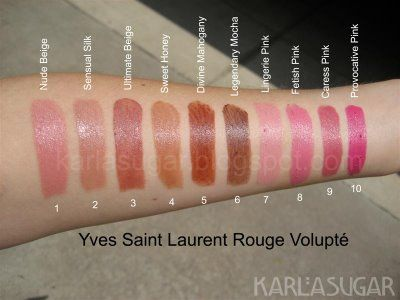 78 Best Images About Make Up Ysl Lip Swatch On Pinterest