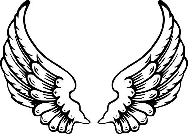 Angel Wings Clip Art at Clker.com - vector clip art online royalty ...