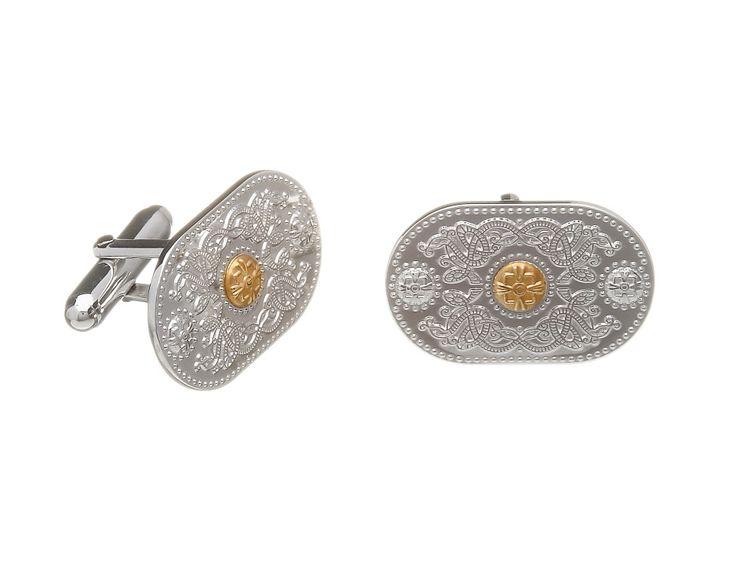 Cuff Links (25mm Gold Boss) #houseoflor #irishjewelry #irishgold #cufflinks #sterlingsilver #arda #handmade #celticjewelry