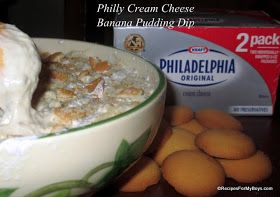 Philly Cream Cheese Banana Pudding Dip #SaveOnPhilly #shop