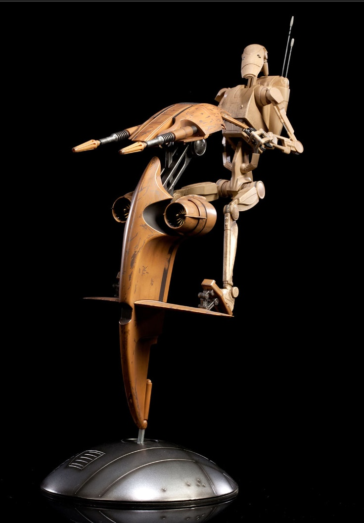 Figura star wars droide de batalla stap 34cm sideshow for Merchandising star wars