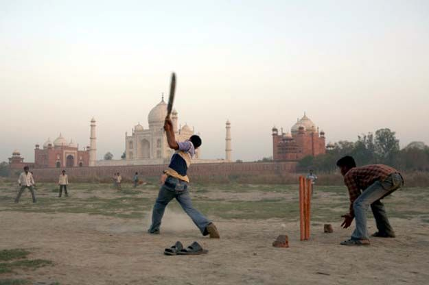 Street cricket. And my, what a street that is.