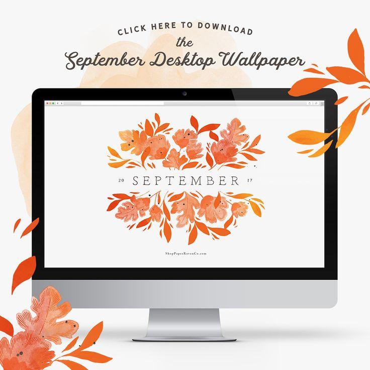 September Illustrated Desktop Wallpaper