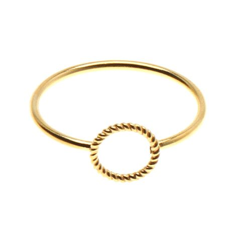 Mini Twisted Open Coin Ring  Pernille Corydon