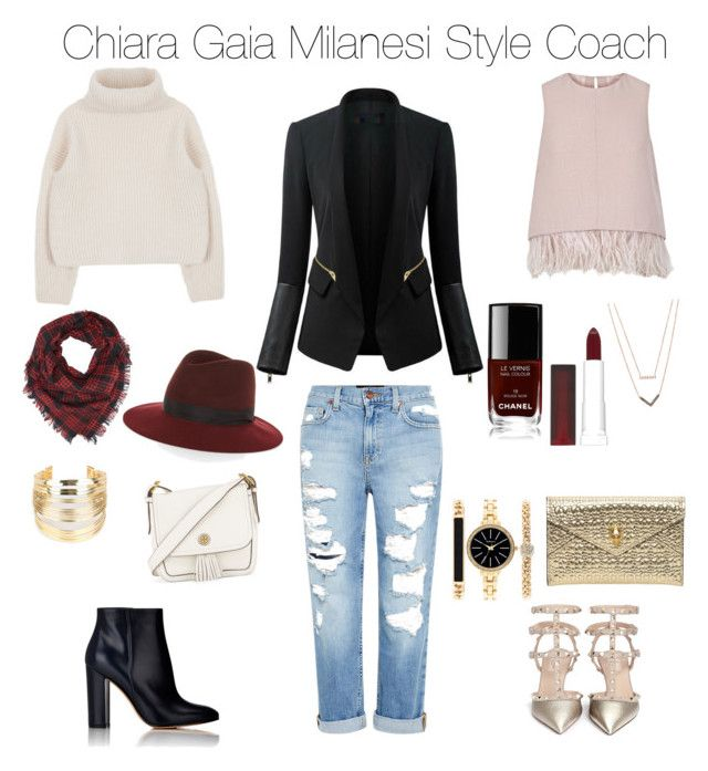 """""""Fashion Style"""" by chiaragaia on Polyvore featuring Genetic Denim, The 2nd Skin Co., Gianvito Rossi, Valentino, rag & bone, Charlotte Russe, Tory Burch, WithChic, Chanel and Maybelline"""