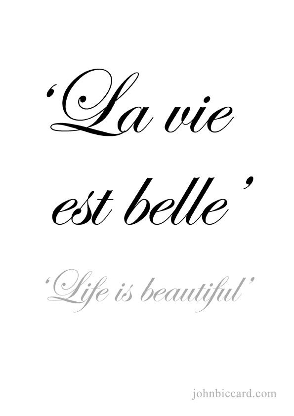 ♔ 'Life is beautiful.'