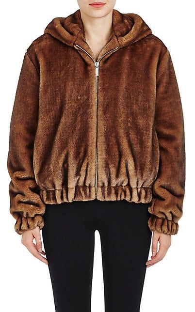 568bc35b5 Helmut Lang Faux-Fur Hooded Bomber Jacket - Jackets - 505309399 ...