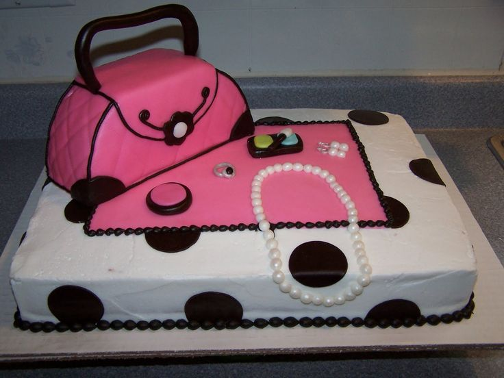 Best Birthday Cake Images On Pinterest Biscuits Beautiful - Purse birthday cake ideas