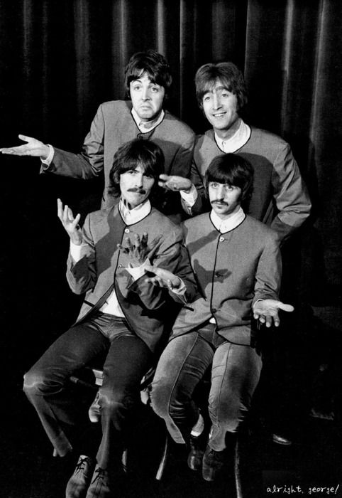 The Beatles, November 1967, from the Hello Goodbye video.  They were engraved in our 20 yr. old hearts and still remain there.