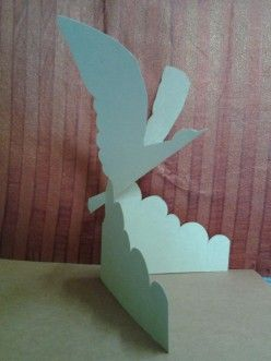 How to make easy paper pop up - A flying bird pop up instructions