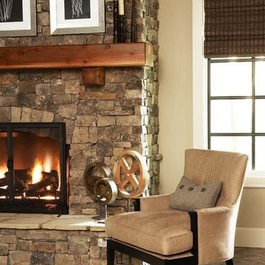 Fireplace Ideals Stone Fireplace Mantles Rock Fireplaces Contemporary