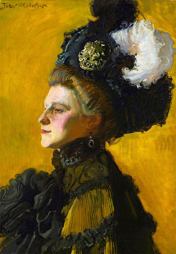 Portrait of artist's wife Jadwiga Janakowska by Józef Mehoffer, 1907 (PD-art/70), Muzeum Narodowe w Warszawie (MNW)