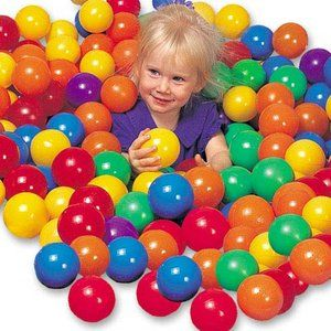 Balls to go in inflatable pool to create our own ball pit. Walmart $17.54