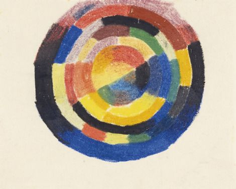 August Macke,  Farbenkreis (Colour wheel), 1913-14 on ArtStack #august-macke #art