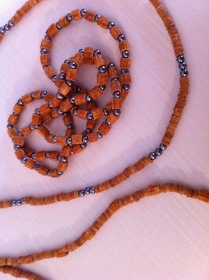 collana di pasta e perline