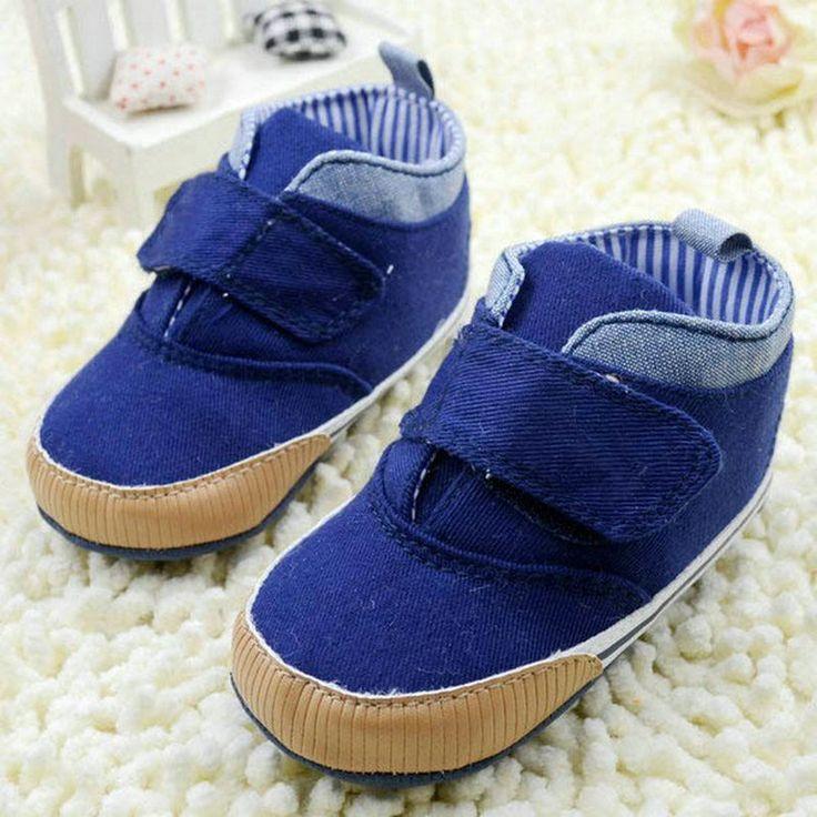 Newborn Kids High Prewalker Soft Sole Cotton Ankle Boots Crib Shoes Sneaker