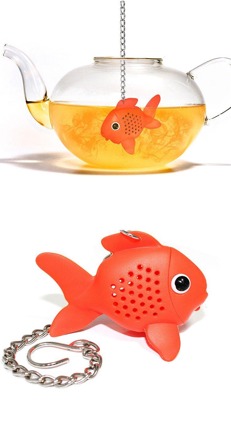 Goldfish tea infuser // so cute! #product_design