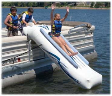 I need a Pontoon Boat so I can get this RAVE Sports® Pontoon Slide! How fun!