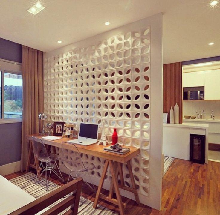 Os cobogós podem ser utilizados para substituir paredes dentro de casa