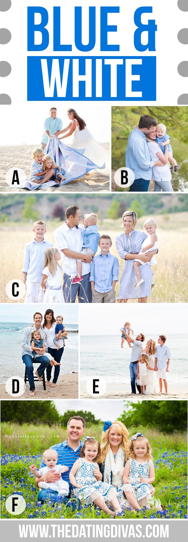 What to Wear for Family Pictures Blue and White